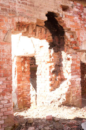 Weathered remains of medieval country estate built with red bricks Stock Photo - 4820768
