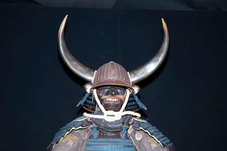 samoerai: Historisch samurai armor op zwart