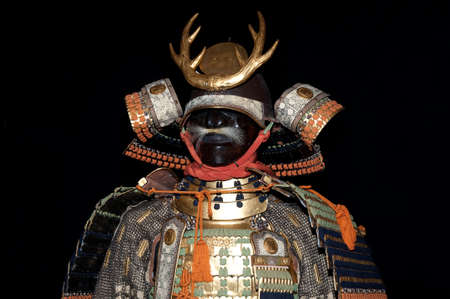 Historic samurai armor on black Stock Photo - 4878091