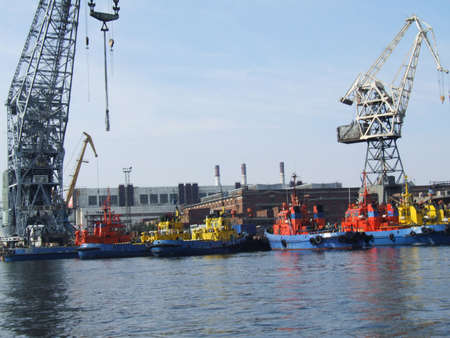 superstructure: A photo of the port facilities in Saint Petersburg, Russia.