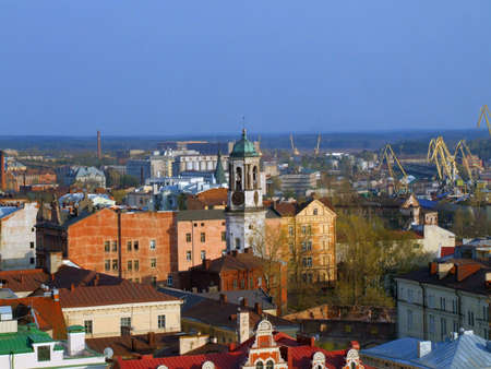 Kind is from above on a city Vyborg photo