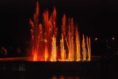 expulsion: Water fountain at night