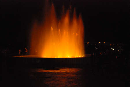 splutter: Water fountain at night
