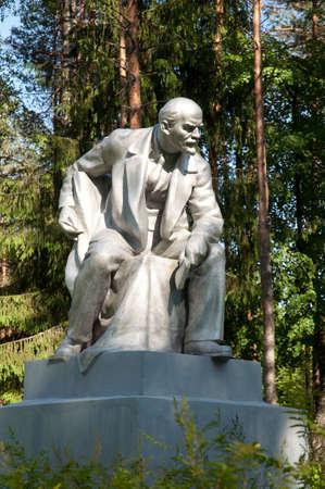 lenin: monument of Lenin in the suburb of Petersburg