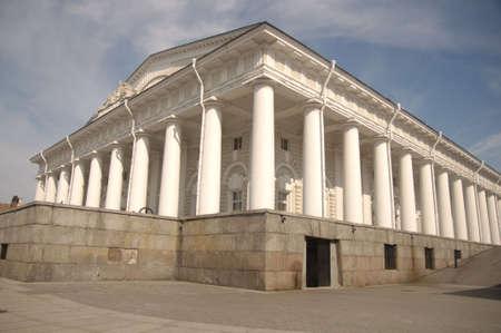 building of exchange, Petersburg, Russia photo