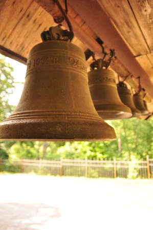 bells in the church of apostles Petre and Paul, Saint Petersburg, Russia photo