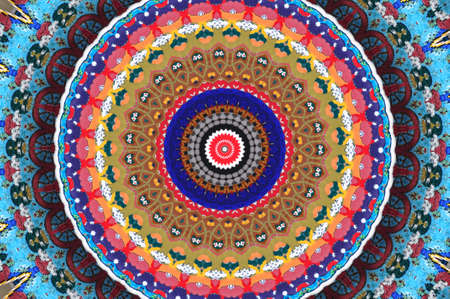 illustration of Colorful circular background made in oriental style illustration