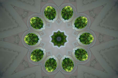 A kaleidoscope, abstract fantasy, illustration, can be used as a background illustration