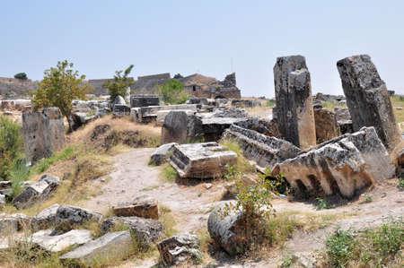 Ruins of ancient necropolis near Pamukkale, Turkey Stock Photo - 6555796