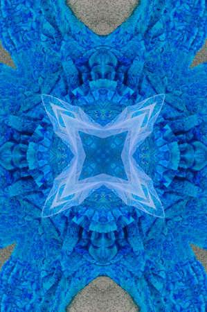 diffused: blue ornament, kaleidoscope