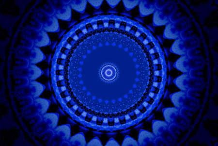 Dark blue ornament, kaleidoscope Stock Photo - 6618297