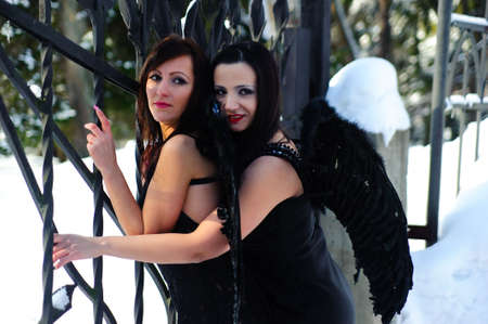 fetishes: Two black angels