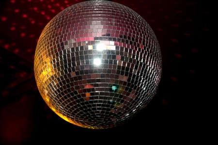 70s disco: Disco ball. Stock Photo