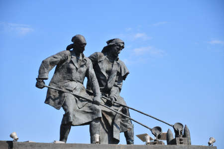blockade: Monument to defenders of blockade Leningrad Stock Photo