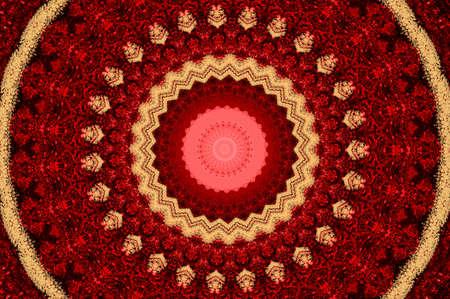 rubin: Red kaleidoscope Stock Photo