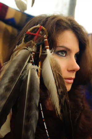 powow: American Indian Woman