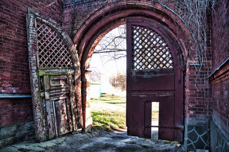 Old wooden gate Stock Photo - 7155870