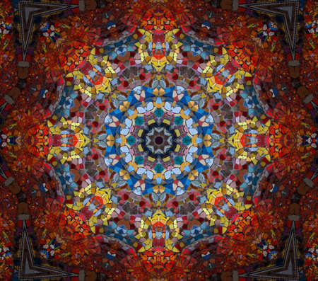 kaleidoscope: mosaic Stock Photo
