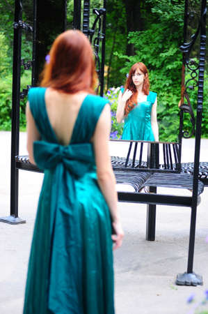 The girl at a mirror Stock Photo - 7540195
