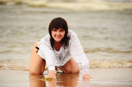 Young girl enjoying sun and water in tropical sea Stock Photo - 7560121