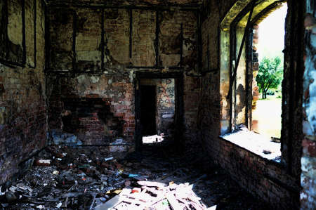 Room of the burned down house photo