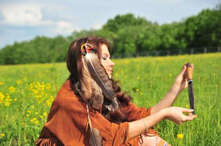American Indian Woman  photo