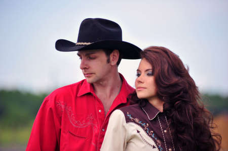 Love story in cowboy's style Stock Photo - 7641839