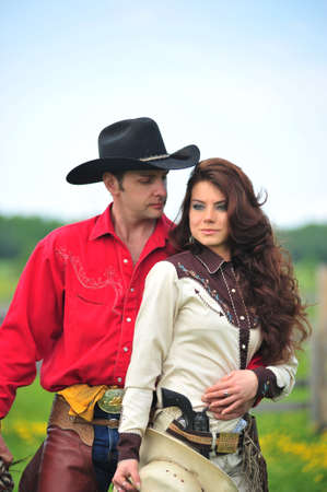 Love story in cowboy's style Stock Photo - 7641843