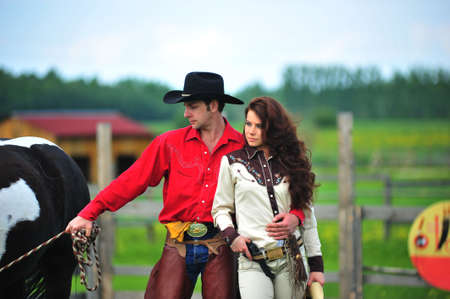Love story in cowboy's style Stock Photo - 7641841