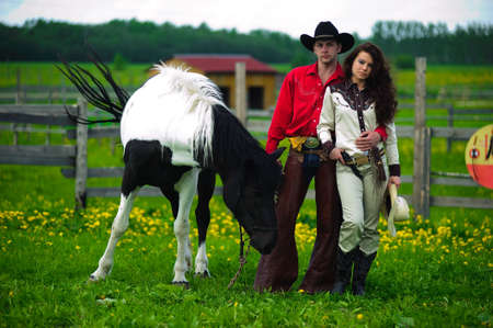 Love story in cowboy's style Stock Photo - 7641857