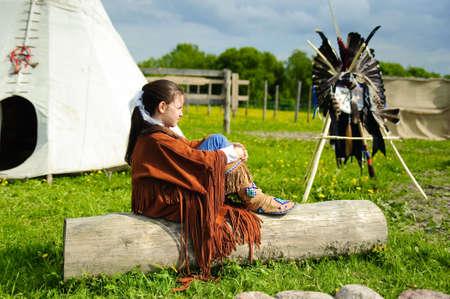 regalia: American Indian girl