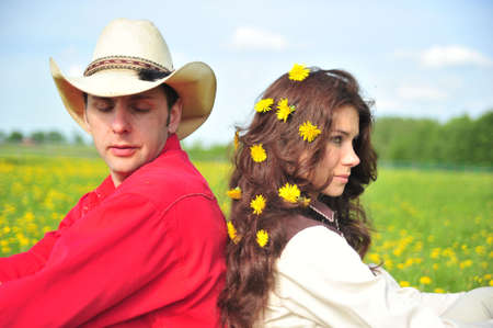 Love story in cowboy's style Stock Photo - 7642186