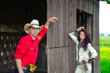 Love story in cowboy's style Stock Photo - 7642233