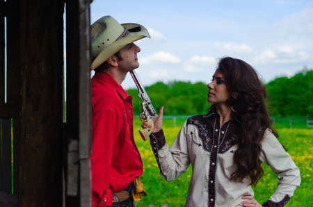 revolver: Love story in cowboys style