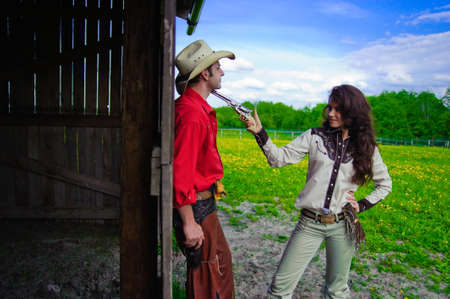 Love story in cowboy's style Stock Photo - 7642274