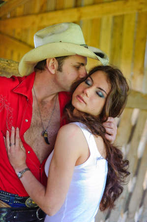 Love story in cowboy's style Stock Photo - 7642277