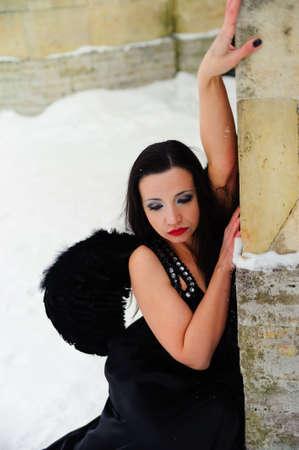 fetishes: Dark angel Stock Photo