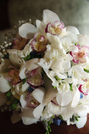 centerpiece: Bouquet of the bride from orchids