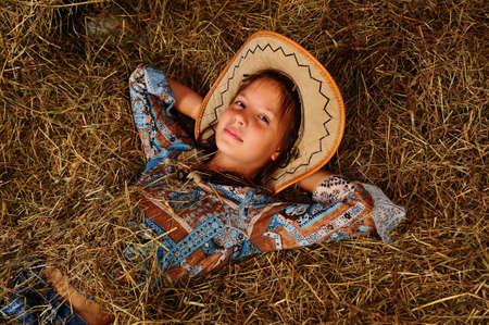 bandana western: The girl on a mow