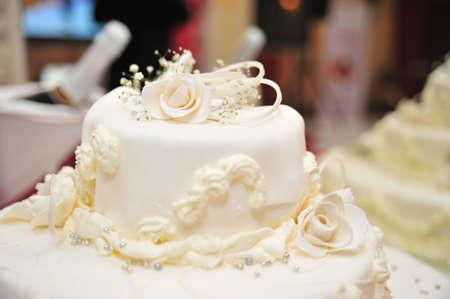 boda pastel: Pastel de boda  Foto de archivo