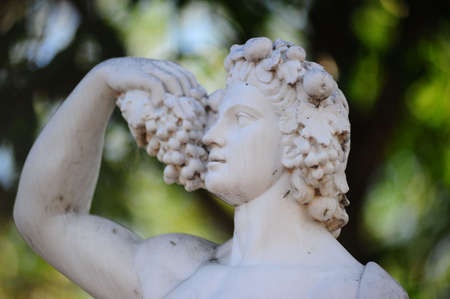 Antique statue. The Greek God of wine photo