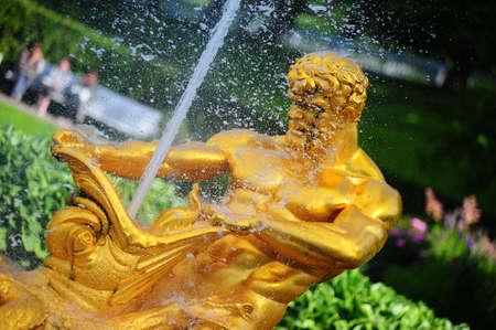 Famous fountains of Petergof, Saint Petersburg, Russia photo
