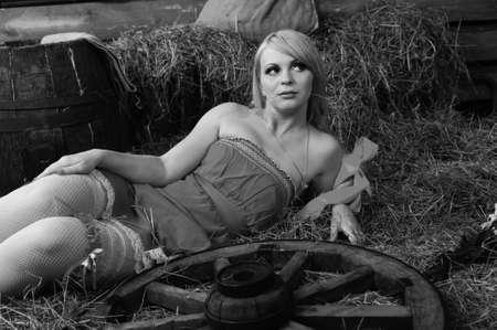 hayloft: Blond in the hayloft