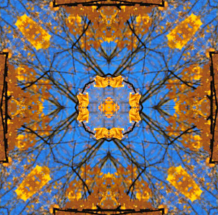 jazzy: Gold with the blue kaleidoscope