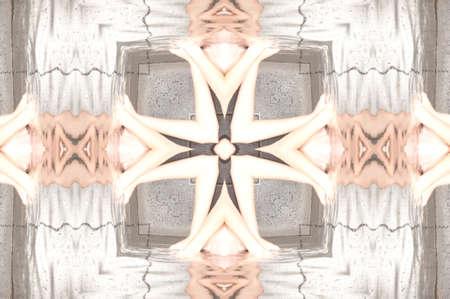 brown geometric pattern photo
