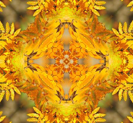 yellow orange ornamental kaleidoscope photo