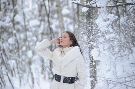 Beautiful young woman in Winter Park Stock Photo - 8296800