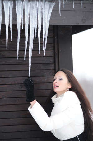 Icicles coming down photo