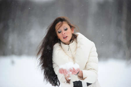 girl in winter photo