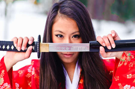 girl with a katana photo